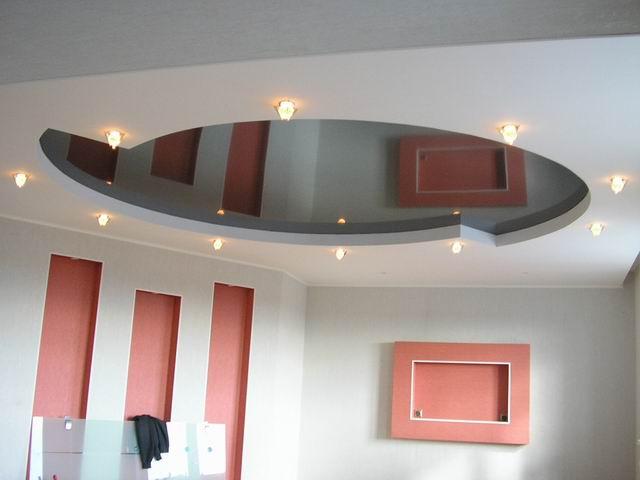 Потолки из гипсокартона - фото и